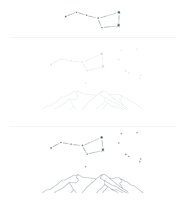 Ursa Major Custom Brand Illustration Variations