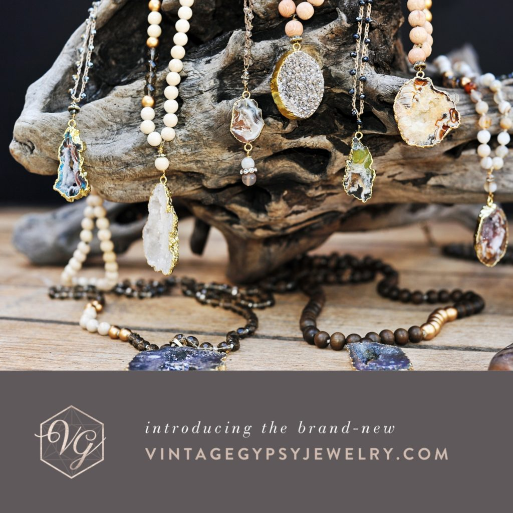 Vintage Gypsy Jewelry: Social media graphic